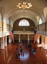 Ellis Island main hall Stock Photo