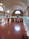 Ellis island waiting hall of the immigration terminal of Royalty Free Stock Photo