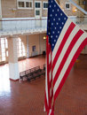 Ellis island waiting hall of the immigration terminal of Stock Photos