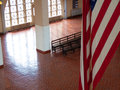 Ellis island waiting hall of the immigration terminal of Stock Photography