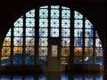 Ellis Island window Stock Image
