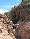 Ellison Creek waterfall in Arizona Royalty Free Stock Photo