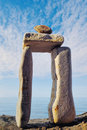 Elongated Stones Stock Image