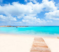 Els Pujols Formentera white sand turquoise beach Royalty Free Stock Photography