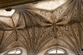 Elvas cathedral ceiling late gothic with moorish architecture influence in portugal Stock Image