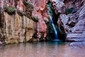 Elves chasm royal arch creek in near the confluince with the colorado river grand canyon national park Stock Images