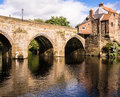 Elvet bridge durham england the ancient over the river wear Royalty Free Stock Photo