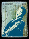 Elvis Presley Postage Stamp Royalty Free Stock Photo