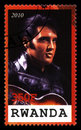 Elvis Presley Postage Stamp from Rwanda Royalty Free Stock Photo