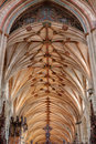 Ely cambridgeshire uk november ceiling detail ely cathed cathedral in on Royalty Free Stock Images