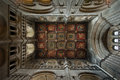 Ely cathedral interior view showing stonework and windows Royalty Free Stock Image