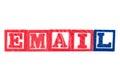 Email - Alphabet Baby Blocks on white Royalty Free Stock Photo
