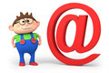 Email boy Royalty Free Stock Photos
