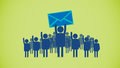 Email crowd an illustration and symbol for an receiver in a of other users Stock Photography