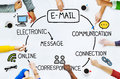 Email Data Content Internet Communication Messaging Concept Royalty Free Stock Photo
