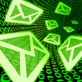 Email e-mail digital mail spam binary code symbol Royalty Free Stock Photo