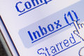 Email em Inbox Foto de Stock Royalty Free