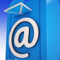 Email on email box showing delivered mails or inbox messages Stock Images