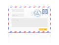 Email envelope isolated on white background. Royalty Free Stock Photo