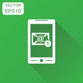 Email envelope message on smartphone icon. Business concept e-ma Royalty Free Stock Photo