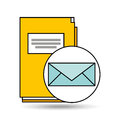 Email folder directory book design Royalty Free Stock Photo