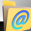 Email folder shows online mailing inbox file showing Royalty Free Stock Photos