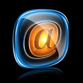 Email icon neon. Royalty Free Stock Photo