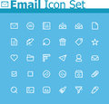 Email icon set of the simple interface icons Stock Photo