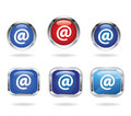 Email icon vector illustration of the Stock Photography