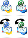 Email icon vector illustration of the Royalty Free Stock Photo