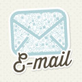 Email icons over beige background vector illustration Stock Photo