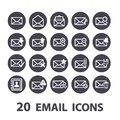 Email icons set Royalty Free Stock Photo