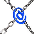 Email imprisoned with chain Stock Photos