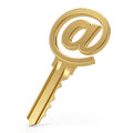 Email key concept d render Royalty Free Stock Images