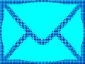 Email mail blue sign Royalty Free Stock Photo