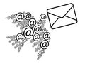 Email message Royalty Free Stock Image