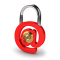 Email protection lock and key on white background Royalty Free Stock Photography