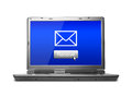Email receive conceptual image about electronic mail about a computer laptop Royalty Free Stock Images