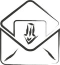 Email sign black on white background Royalty Free Stock Photos