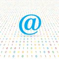Email sign on a digital background. Royalty Free Stock Photo