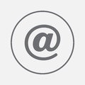 Email sign icon vector, solid illustration, pictogram isolated on gray.