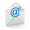 Email sign on paper in envelope Stock Photography