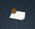 Email symbol blank paper sheet d illustration Stock Photo