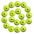 Email symbol made from apples green isolated on white background Stock Photography