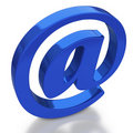 Email symbol with reflection on white background Stock Image