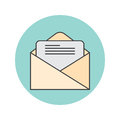 Email thin line icon, letter filled outline vector logo illustra