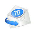 Email txt message illustration design over white Stock Photo