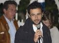 Emanuele scagliusi italian politic stars young talking microphone Royalty Free Stock Photos