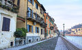 Embankment of Adige river in Verona Stock Photography