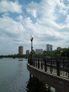 Embankment in Donetsk Stock Photo